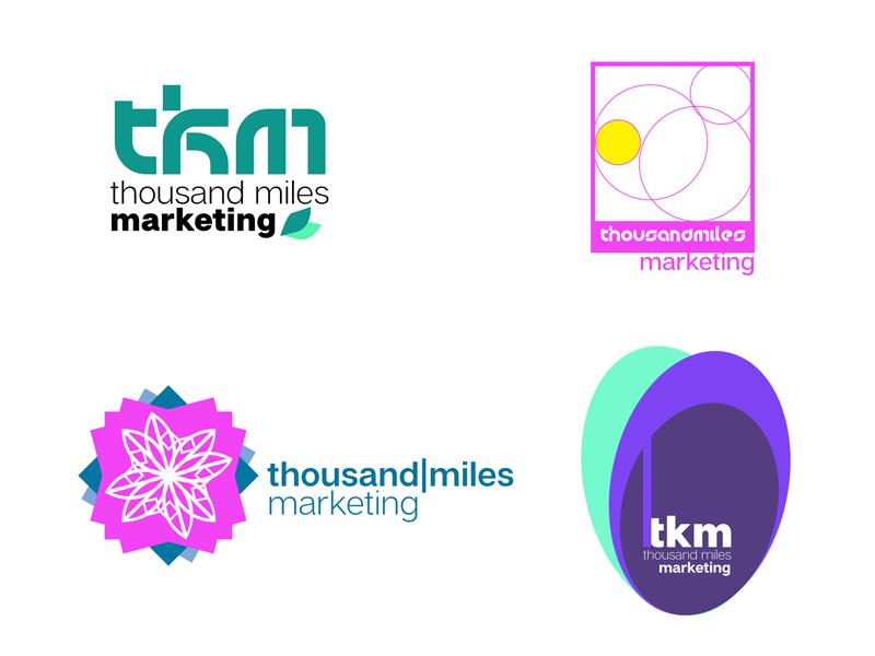Thousand Miles Logo Design graphic design logo branding