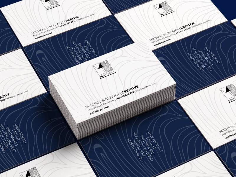 Mshiferaw Business Card Reduced business card logo branding design