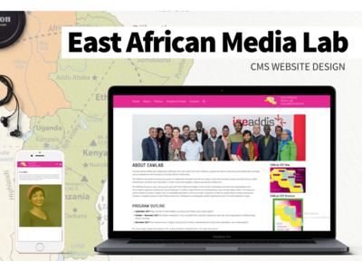 East Africa Media Lab CMS Website