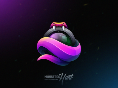 Monster Hunt esports tail snake 3d lens hunt monster colorfull icon design illustration games designs modern branding logo brand