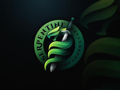 Snake N' Sword serpent sword snake colossal beast badge game gaming illustration masculine colorfull mark esports games designs modern branding brand