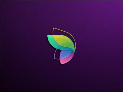 Butterfly icon technology feminime butterfly colorfull modern branding brand logo