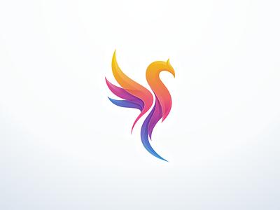 Phoenix phoenix icon mark bird colorfull modern branding brand logo