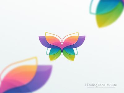 Butterfly beauty feminime cute fun education designs butterfly colorful branding brand