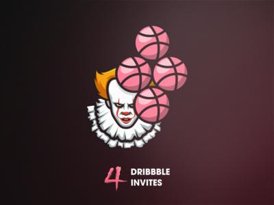 Invites it pennywise invitation giveaway invites invite dribbble draft