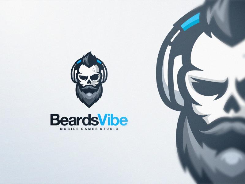 Beard Skull hipster beard skull dota2 csgo sports esports games branding brand designs logo