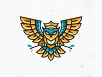 Owl Lineart Logo 2
