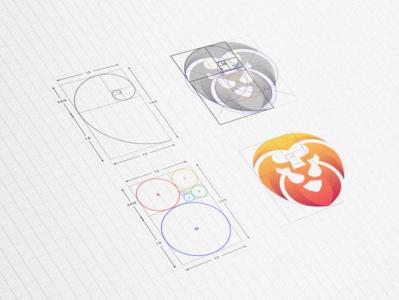 Lion Golden Ratio Grid logodesigns designs fibonacci branding brand modern golden ratio grid lion logodesign logo