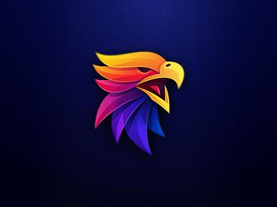 Eagle Color eagle falcon vibrant animal colorfull colorful vector illustration bird mark games icon designs modern branding logo brand