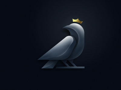 Gold Crown Weaver logodesign ui glossy queen king crwon animal grid pictogram 3d colorfull bird mark games icon designs modern branding logo brand