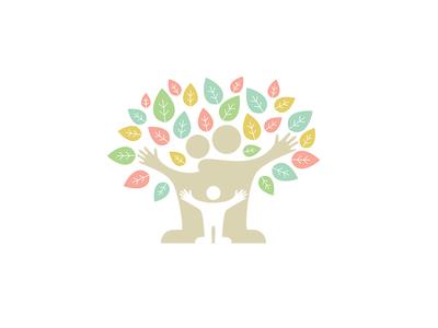 Family Tree planting volunteering association illustration tree family logo