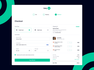 Daily UI Challenge #02: Checkout Page payment processing payment gateway payment page payment form payment web  design website webdesign checkout design checkout flow checkout process checkout form checkout page checkout dailyui 002 dailyuichallenge daily ui challenge dailylogochallenge daily ui dailyui
