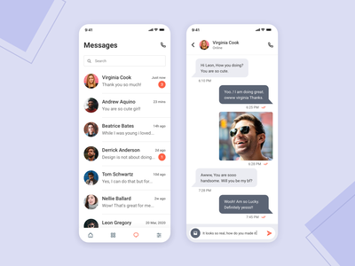 DailyUI Challenge #013: Direct Messaging direct message messaging app messaging list listing list view chat messages view chat view chat app messages message app message dailyui challenge daily ui challange daily ui challenge daily 100 challenge dailyuichallenge daily ui dailyui
