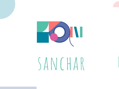 Sanchar branding conception logo