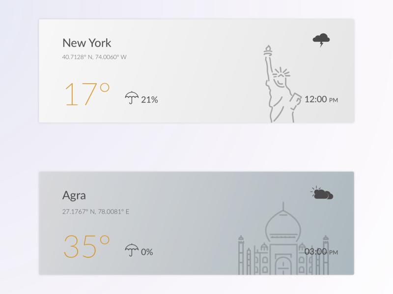 Weather Widgets weather forecast weather app widgets visualdesign patterns color gradation illustration ui conception visuals