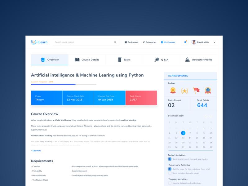 Online education platform_Course page website dribbble best shot dribbble visualdesign visuals ui design conception