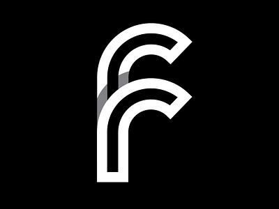 2 Rs = F f monogram lettering overlapping type typography logo logomark