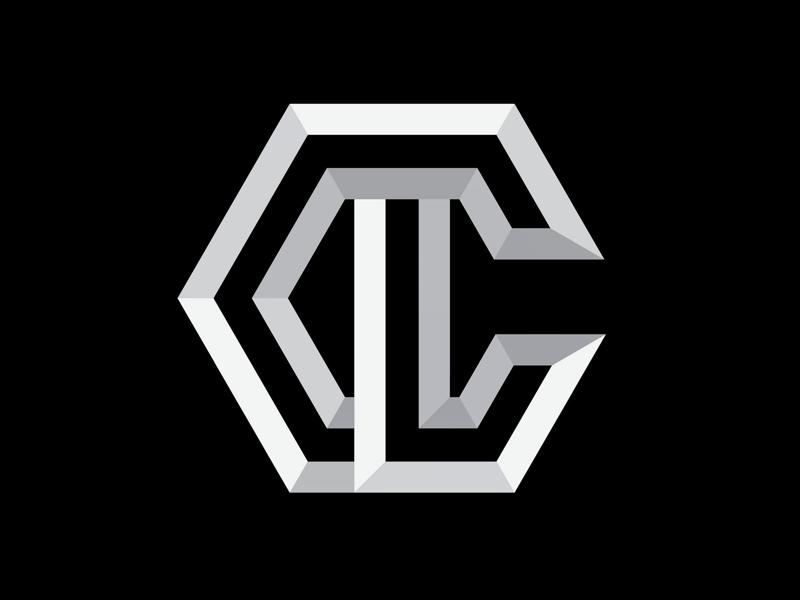 CL hex logos hexagon branding brand bold sharp geometric identity logomark monogram logo cl