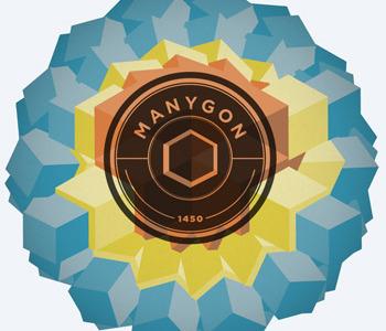 Manygon logo geometric