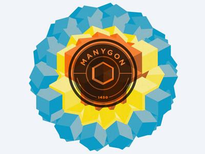 full manygon logo geometric