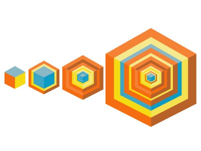 Evolution geometric evolution colorful random