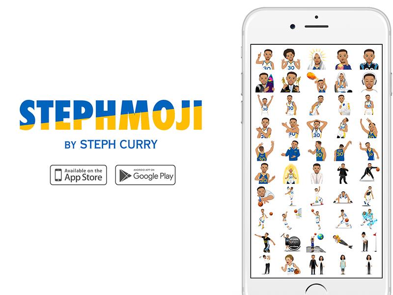 brand new 335e5 6d62a StephMoji App stickers moji emojis emoji basketball warriors steph curry  stephmoji