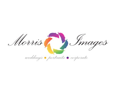 Morris Images photography logo colors rainbow shutter camera picture