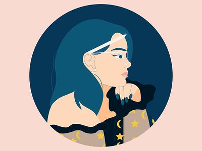 2021 Portrait self portrait selfportrait self character design minimal colorful illustration vector illustrator