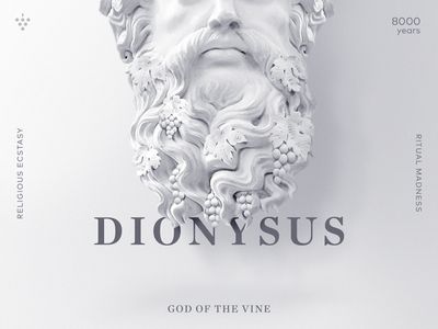 Dionysus - The God of the Vine monument beard grape poster layout editorial manipulation god dionysus statue vine wine