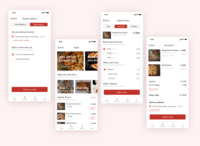 Pizza Ordering Application application pizza app pizza app ui design