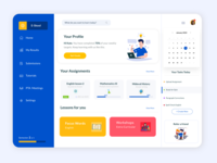 Dashboard application for Student Portal - Full View