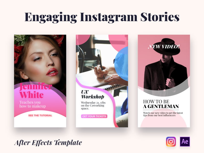 Instagram Stories | After Effects Template after effects animation after effects template template design add instagram stories instagram motion graphics after effects ux ui