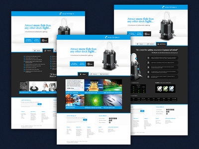 Dock Light Tabs web page theme website light dock blub electricity power pool