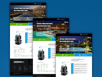 Dock Light web page theme website light dock blub electricity power pool