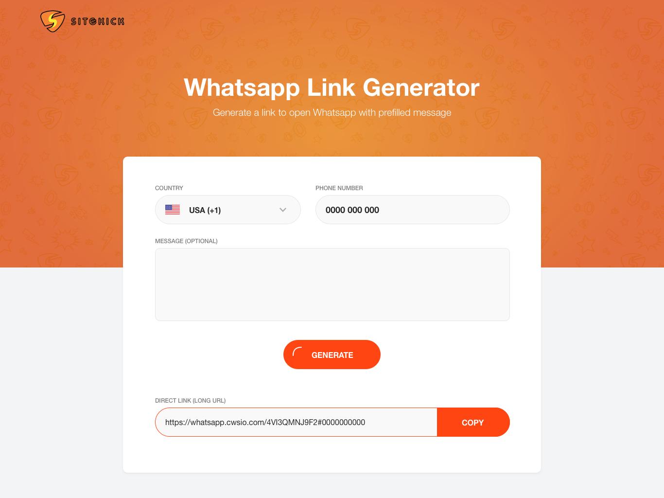 Whatsapp link generator by ziropixel on Dribbble