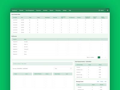 Master Municipal Court graphic table dashboard design web app app admin ui ux dashboar
