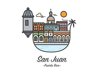 San Juan, Puerto Rico jcheveredesign puertorico jchevere-design boricua vector arte puerto-rico san-juan