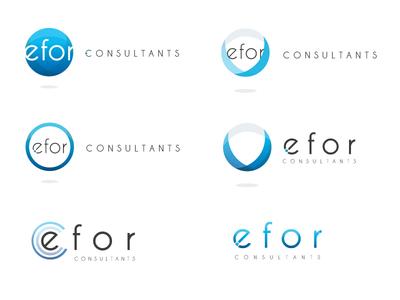 Logo Efor  logotype logo consulting design branding typography print