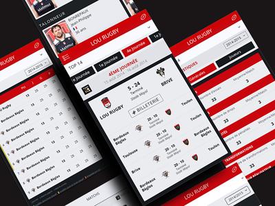 Sport website mobile front-end app mobile website mobile website interface ui ux rugby sport
