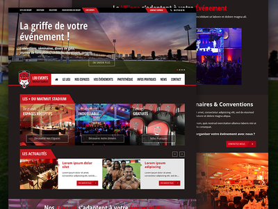Lou Events event rugby sport website ux ui front-end interface