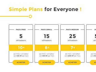 Pricing plans table plan price website ui interface