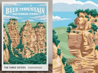 Blue Mountain National Park Poster