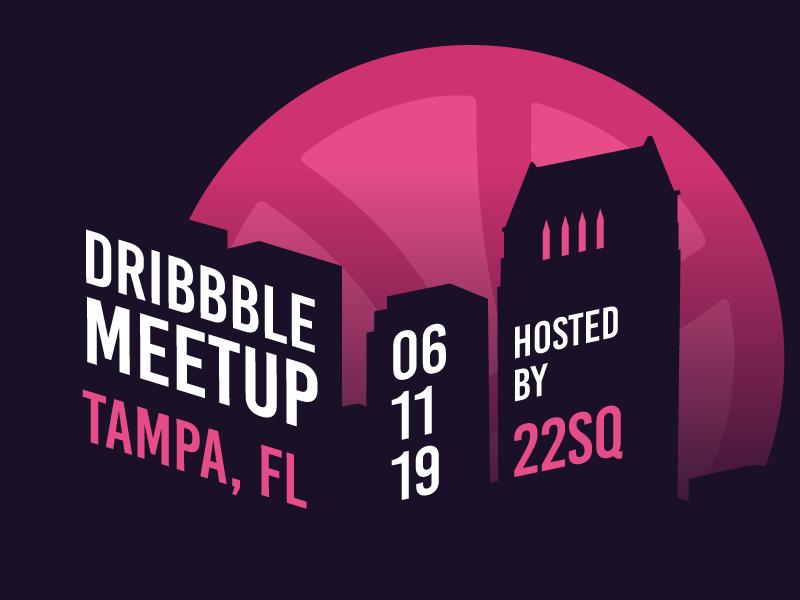 Dribbble Tampa Meetup June, 2019 florida tampa bay tampa meet up meetup vector illustrator illustration