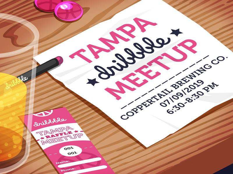 July Tampa Dribbble Meetup! tampa bay meetup