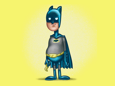 Batdude cartoon art comic art drawing procreate illustration batman