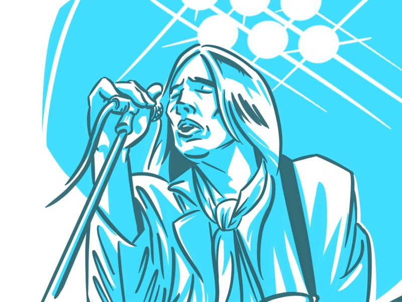 Wont Back Down tom petty editorial illustration illustration illustrator