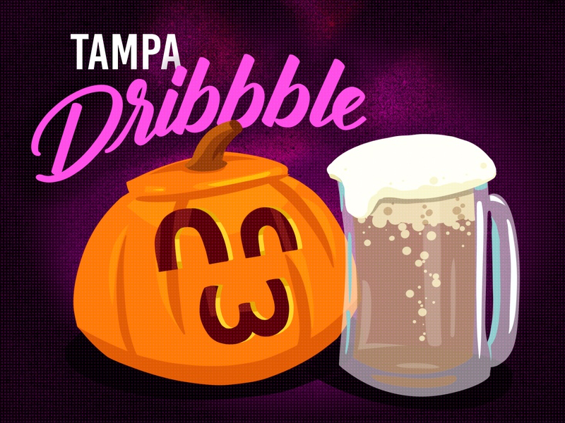 Tampa October Meetup! illustration illustrator beer jackolantern halloween tampa bay meetup october tampa