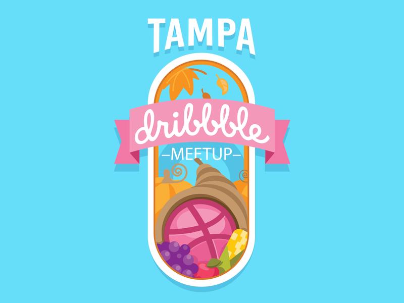 Tampa November Meetup! thanksgiving illustration illustrator pumpkin fall november meetups meetup florida tampa bay tampa