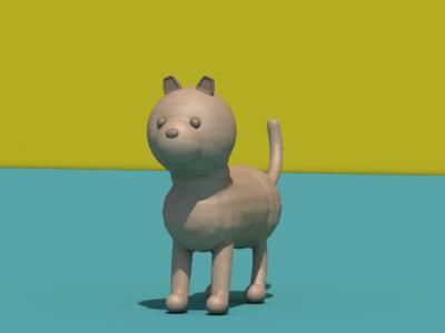 Dog or cat? c4d design art cinema4d cat