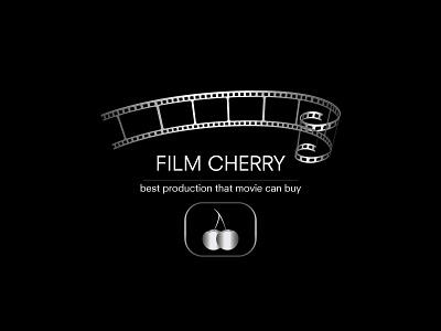 Film Cherry best roll vector typography film logo movie design color cherry tape branding